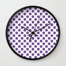 Purple Polka Dots Wall Clock
