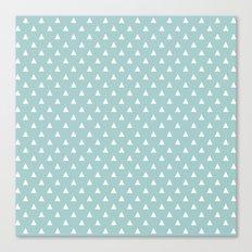 tiffany blue triangle pattern Canvas Print