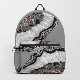 Yin Yang Agate Glitter Glam #9 #gem #decor #art #society6 Backpack