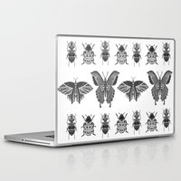 insects Laptop & iPad Skins featuring insects by Textile Candy