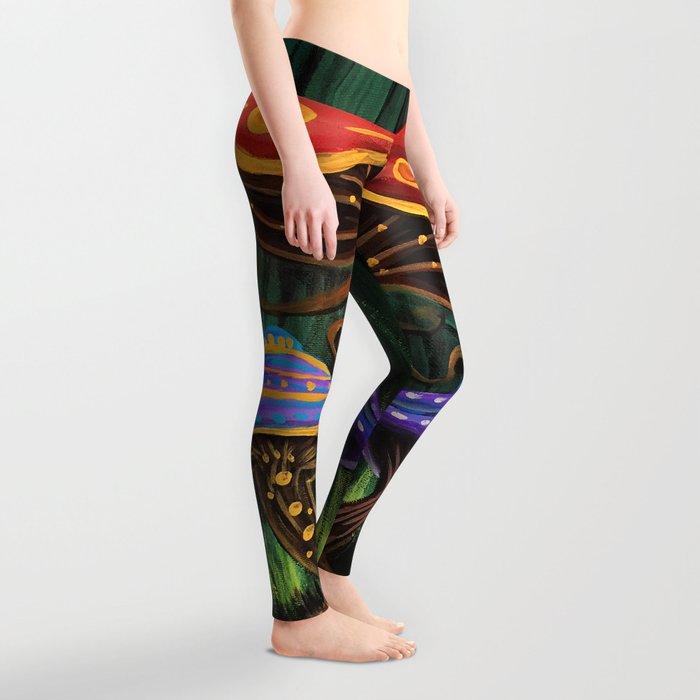 A Mushroom World Leggings