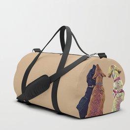 Three Amigos I in tan Duffle Bag
