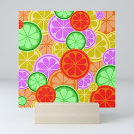 Citrus Explosion - A Pattern of Many Fruits from the Citrus Family Mini Art Print