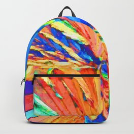 abstract color vortex design Backpack