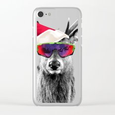 Christmas Deer Crazy Style Clear iPhone Case