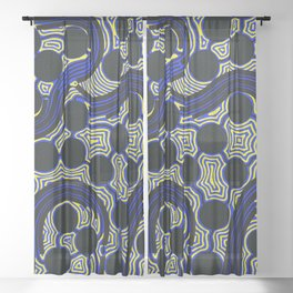 Aboriginal Art – The Rivers around Us Sheer Curtain