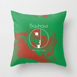 "Bauhaus ""Bela Lugosi's Dead"" Throw Pillow"