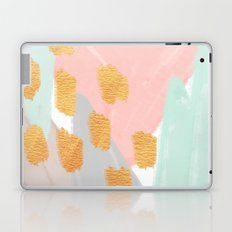 Soft Angles 2 - coral and mint abstract Laptop & iPad Skin