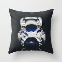 battlestar galactica Throw Pillows featuring Cafe Galactica by JoPruDuction Art