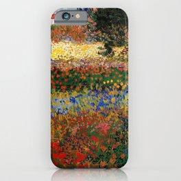 Garden in Bloom, Arles, Vincent van Gogh iPhone Case