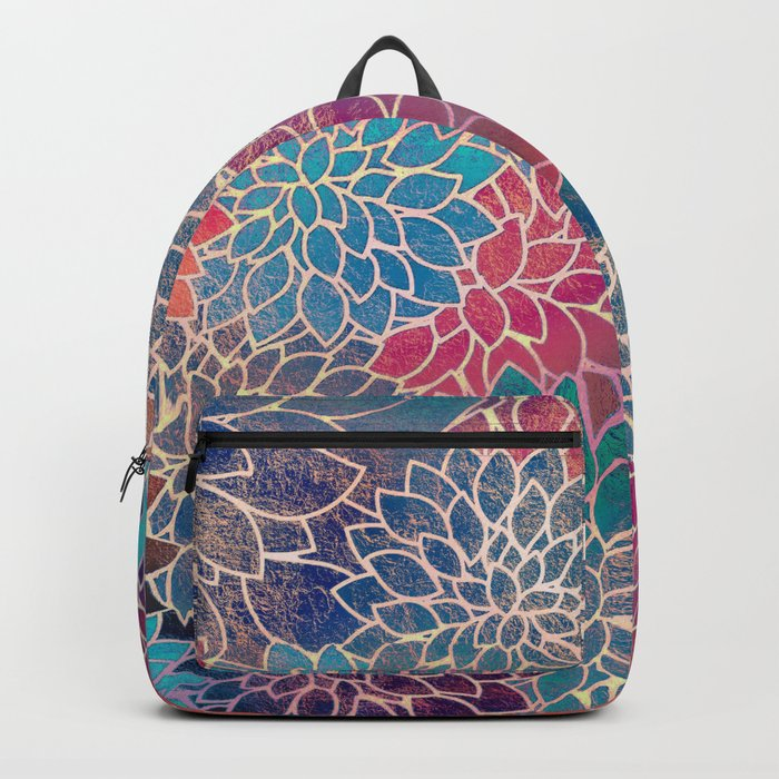 Floral Abstract 8 Backpack