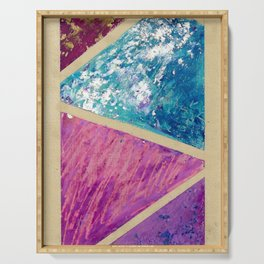 Geometric abstract. Modern painting Serving Tray
