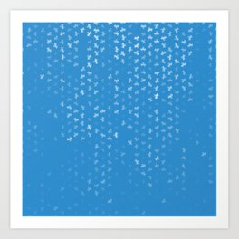 capricorn zodiac sign pattern wb Art Print