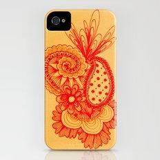 Red Arabesque Slim Case iPhone (4, 4s)