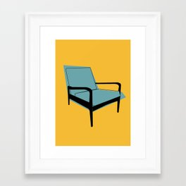 Mid Century Chair Framed Art Print