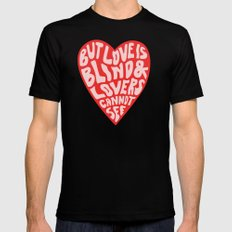 LOVERS CANNOT SEE Black MEDIUM Mens Fitted Tee