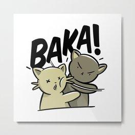 Baka Baka! Meme Cat Metal Print