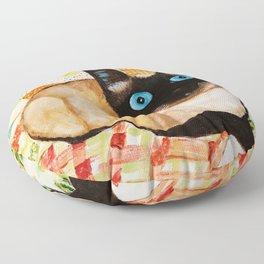 Misha the beautiful Siamese Cat Floor Pillow
