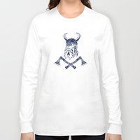 viking Long Sleeve T-shirts featuring Viking by Spiro Vasilevski