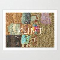 gustav klimt Art Prints featuring Klimt by miragoround