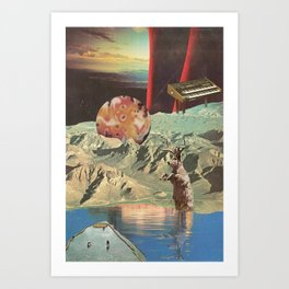 distant sounds (with mariano peccinetti) Art Print