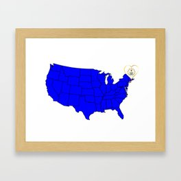 State of Rhode Island Framed Art Print