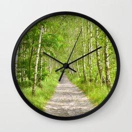 Birch Forest Wall Clock