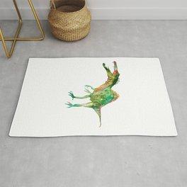 Spinosaurus dinosaur painting watercolour Rug