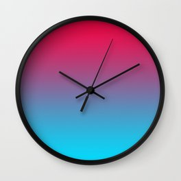 Pink and Sky-Blue Gradient 009 Wall Clock