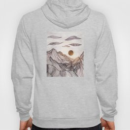 Lines in the mountains Hoody