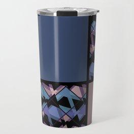 Blue brown patchwork Travel Mug