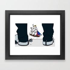 Clippers vs Spurs Framed Art Print