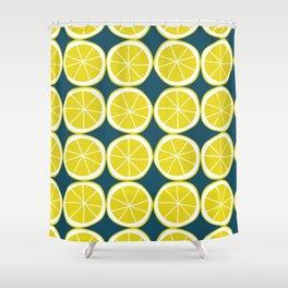 Modern Yellow Lemon Pattern Shower Curtain