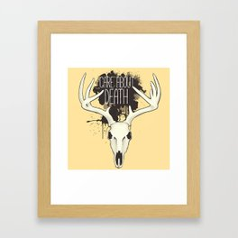 Care About Death Framed Art Print