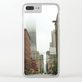 hanging out downtown Clear iPhone Case