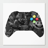 video game Canvas Prints featuring Video Game by Thomas Official