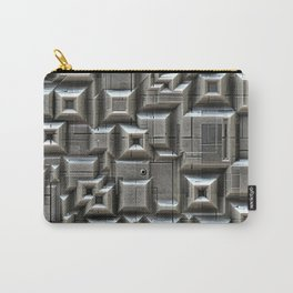 Textured Space Tiles Carry-All Pouch