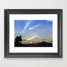 Sunset on the Road Framed Art Print