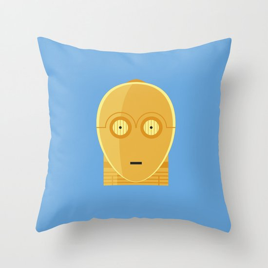 Star Wars Minimalism - C3PO Throw Pillow