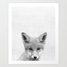Baby Fox Peekaboo print Art Print