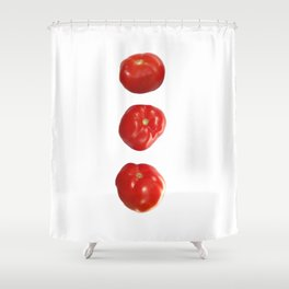 Vegetable tomatoes for the kitchen, Tomato poster Kitchen-art Shower Curtain