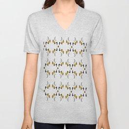 Wasp Pattern Unisex V-Neck