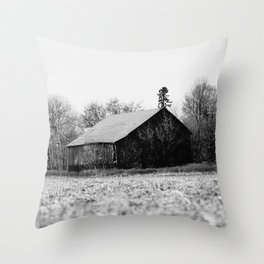 Life is better in the barn Throw Pillow