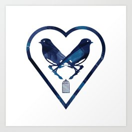 There's A Bluebird In My Heart That Wants To Get Out Art Print