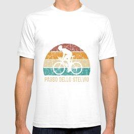 Passo Dello Stelvio Cycling Climb TShirt Retro Cycling Shirt Vintage Cyclist Gift Idea  T-shirt
