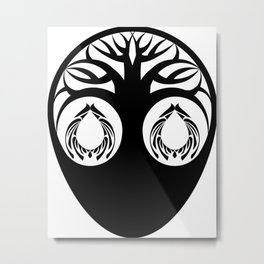 Abstraction 037 - Minimal Geometric Tree Metal Print