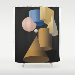Girl with a Pearl Earring Hommage Parody Shower Curtain