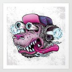 Wolf Dude Art Print