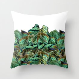 Labradorite Landscape - Gemstone Scene - Iridescent Stones Throw Pillow