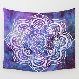 Galaxy Mandala Purple Lavender Blue Wall Tapestry